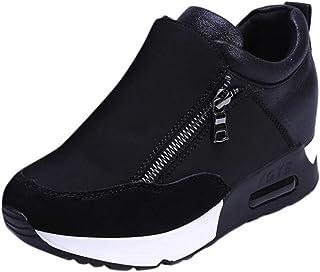 VJGOAL Sneakers Femme Compensees Fond Épais Augmentation dans Mode Sneakers Femme Blanc Plateforme Chic Basket Femme Pas C...