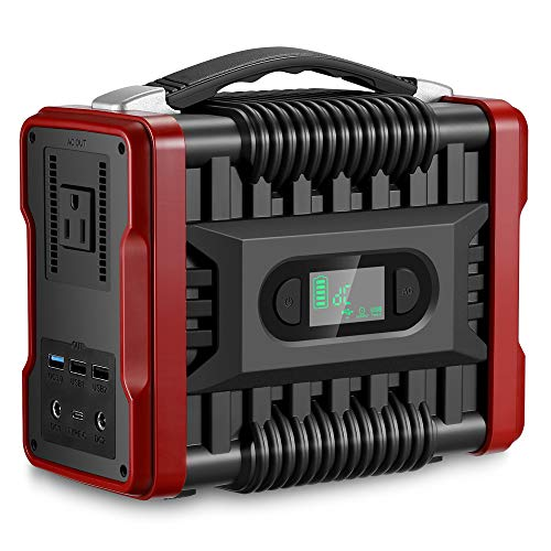 ZEEPIN 222Wh Power Station Portable Generator Solar, 60000mAh Backup Lithium Battery Pack, 110V/200W(Peak 320W), Multiple Output Ports, LED Flashlights for Outdoors Travel Camping Fishing CPAP