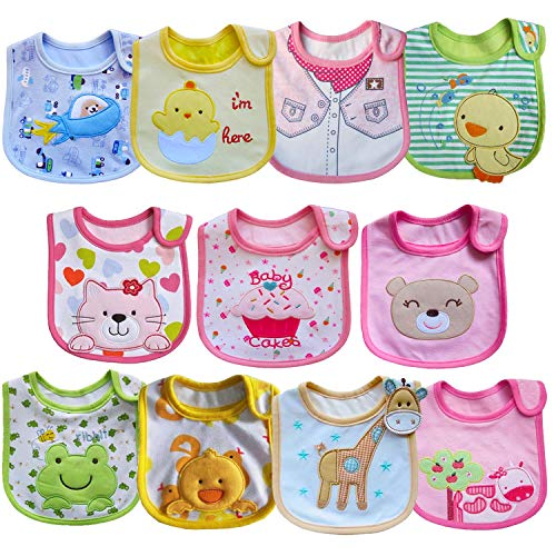 SLOSH 11 Baberos Impermeables Bebe Recien Nacido Niñas