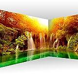 murando Fotomurales autoadhesivo Cascada 539x250 cm Papel Pintado Decoración de Pared Murales Pegatina decorativos adhesivos 3d moderna de Diseno - Naturaleza Sol Bosque c-B-0475-a-a