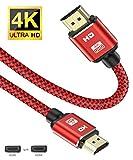 4K HDMI Kabel 2M,4K@60Hz HDMI Kabel Ultra Highspeed 18Gbit/s Hdmi 2.0 Kabel,mit Ethernet/Audio Rückkanal, Kompatibel mit Video 4K UHD 2160p,HD 1080p,3D Xbox PS4