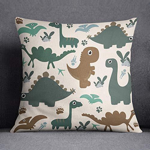 Bonamaison Dinosaurios Funda de Cojín, Multicolor, 45x45