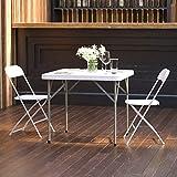 Flash Furniture 2.85-Foot Square Granite White Plastic Folding Table