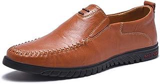 [hitstar] メンズ 革靴 カジュアル 革靴 ビジネスシューズ ローフー フラットシューズ 履きやすい 柔軟 滑り止め