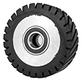 Happybuy 6x2inch Belt Grinder Rubber Wheel Serrated Rubber Contact Wheel 6206 Bearing Belt Grinder Wheel for 2x72inch Knife Making Grinder