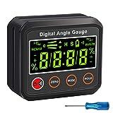 AUTOUTLET Inclinómetro Digital Buscador del Ángulo Medidor de Ángulo Digital Indicador del Nivel Transportador de la Caja del Nivel con la Base Magnética