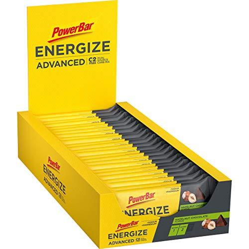 PowerBar PowerBar Energize Advanced Hazelnut Choco (25x55g) - Energie Riegel mit C2MAX, 25 Riegel
