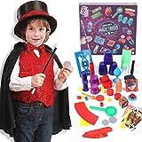 Tacobear Magia Disfraz para niños Mago con Juegos de Magia Trucos de Magia Magia Accesorios Kit para Niños Carnaval Halloween Navidad