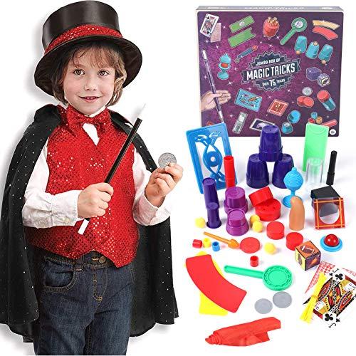 Tacobear Magia Costume Bambino con Trucchi di Magia Giochi Magia Costume di Ruolo Magia Kit per Bambini Natale Halloween Festa Carnevale