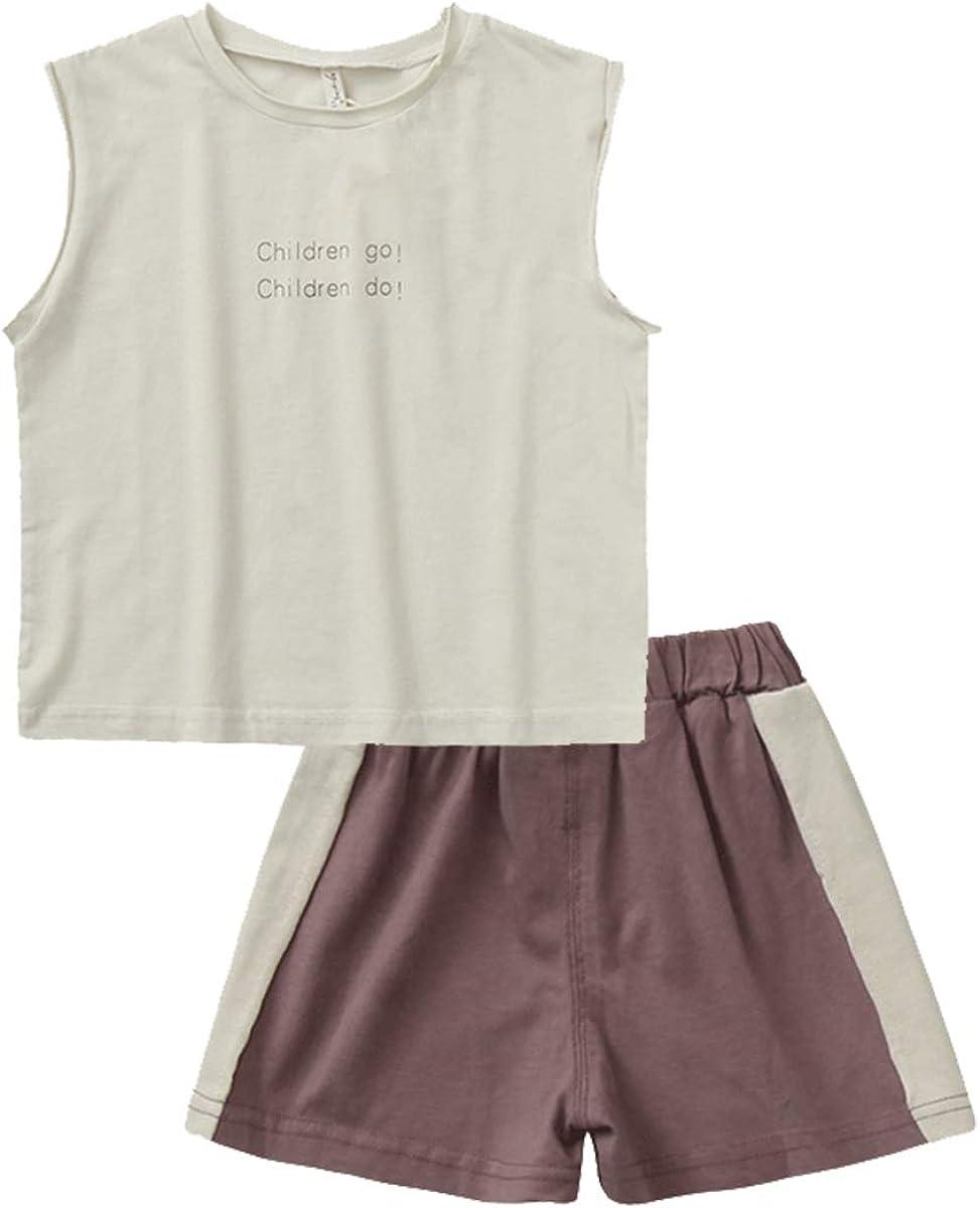 Mason Island Kids Little Girls Boys Summer Outfits Short Sleeve T-Shirt and Shorts Sets