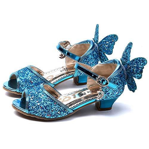 YONIER Scarpe da Donna Glitter Glitter Tacco Basso Scarpe da Bambina Scarpe da Festa Sandalo con Tacco Alto