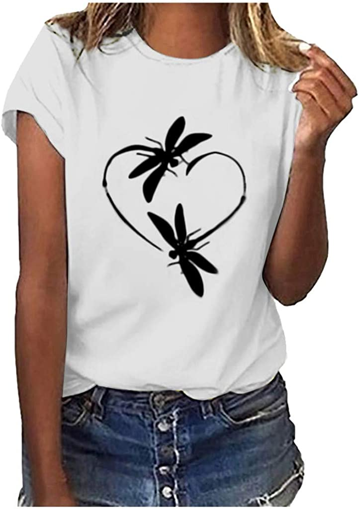 Womens Tops Summer Women's Comfy Casual Twist Knot Tunics Tops Blouses Tshirts White