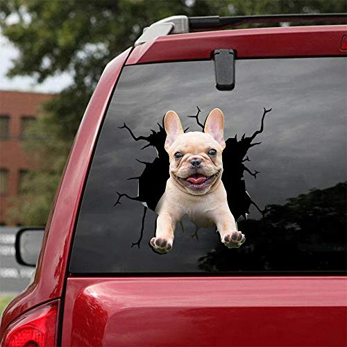 Ocean Gift Frenchie - French Bulldog Car Decals, Dog Car Stickers Pack of 2 - Sticker for Car Windows, Walls Series 27 Size 10' x 10'