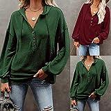 Hoodie Sweater, Women's Long Sleeve T-Shirt, Women Casual Solid Button Drawstring Pullover Tops Hoodies Sweatshirts Fashion