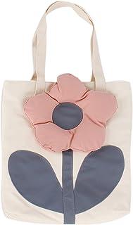 MEAUK Damen Canvas Tote Bag Süße Blume Schultertasche Groß Einkaufen Wiederverwendbar Schultertasche