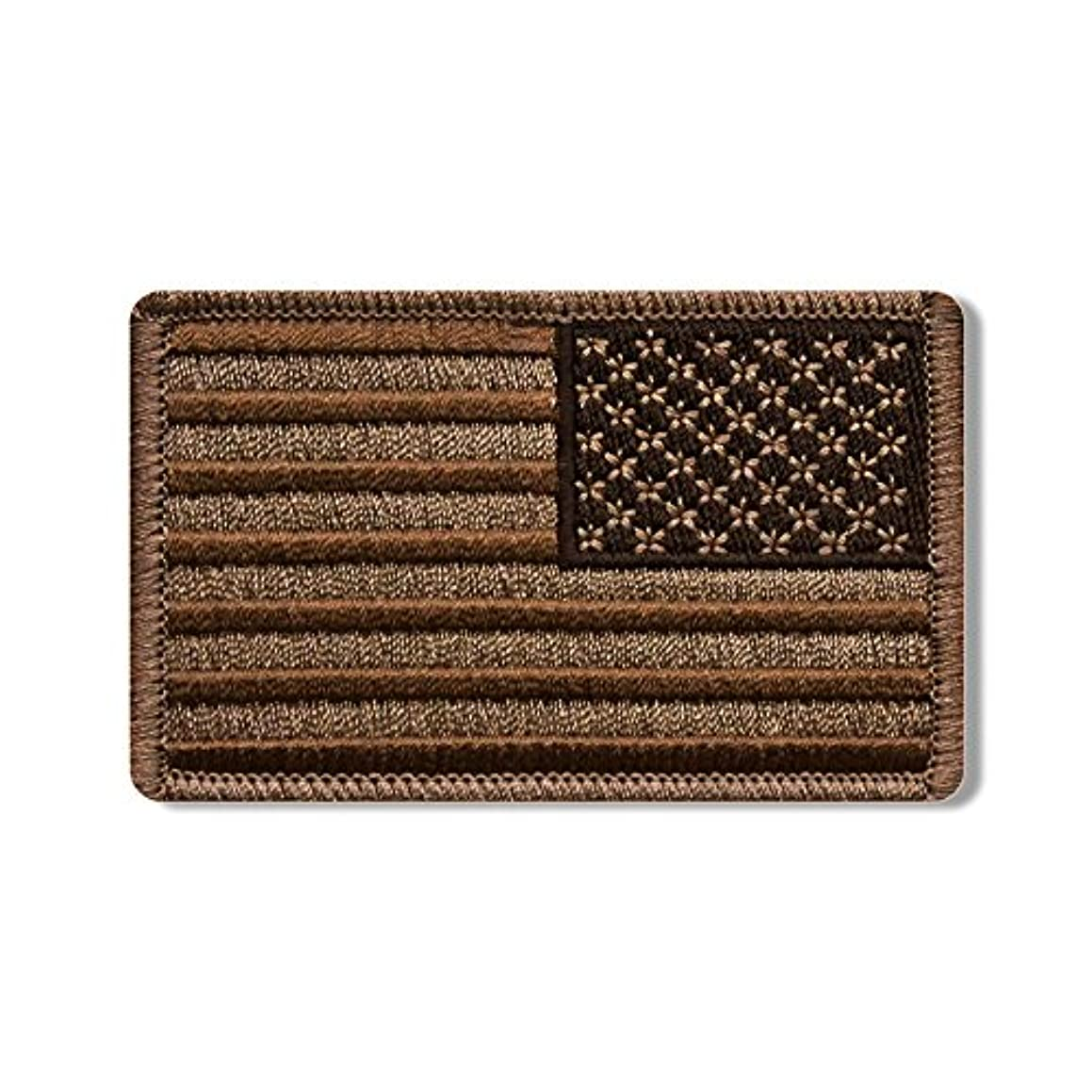 Hot Leathers, RIGHT ARM FLAG BROW, Iron-On / Saw-On High Thread Embroidered Rayon PATCH - 3