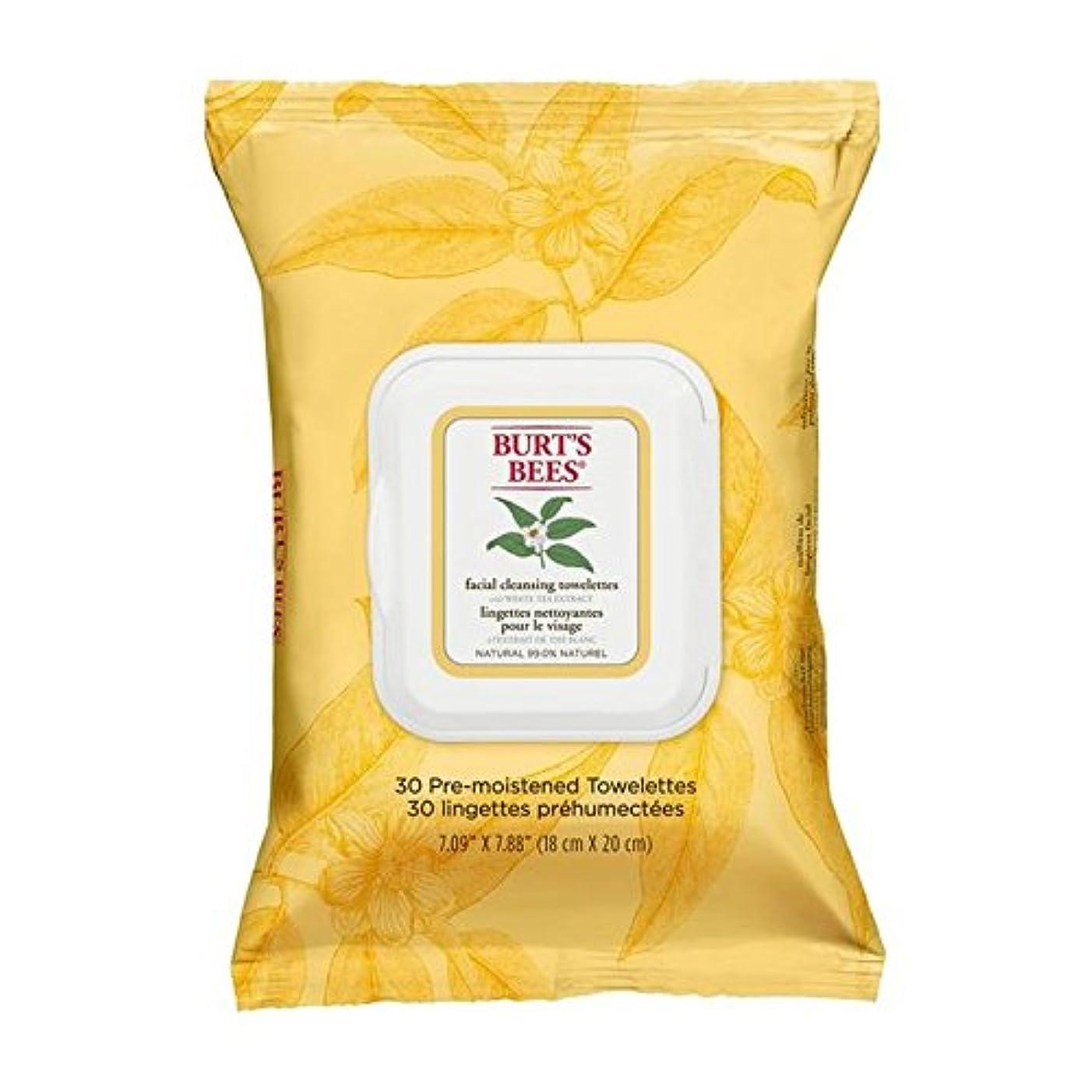 受信容赦ない引数Burt's Bees Facial Cleansing Towelettes with White Tea Extract (Pack of 6) - ホワイトティーエキスとバーツビー洗顔ペーパータオル x6 [並行輸入品]