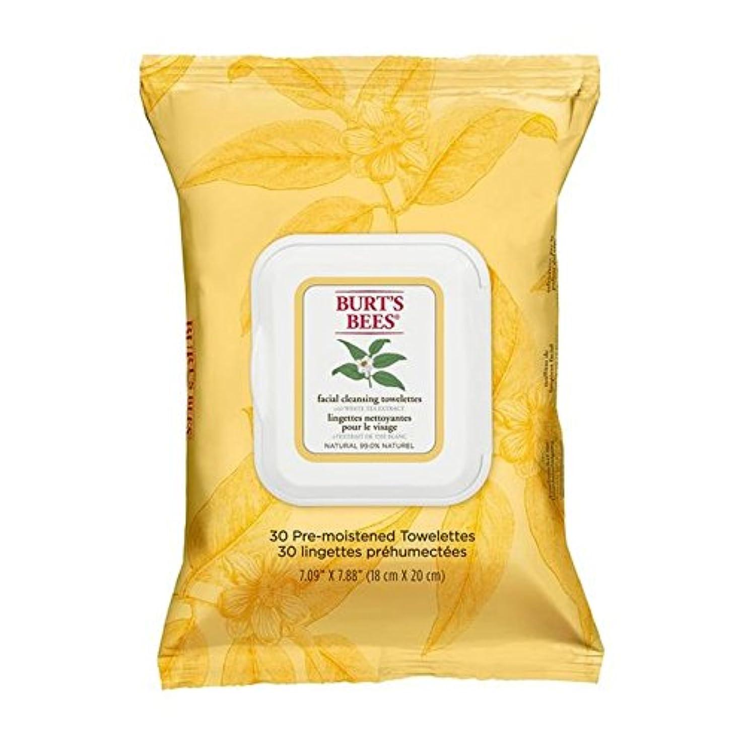 海藻休み打ち負かすホワイトティーエキスとバーツビー洗顔ペーパータオル x2 - Burt's Bees Facial Cleansing Towelettes with White Tea Extract (Pack of 2) [並行輸入品]