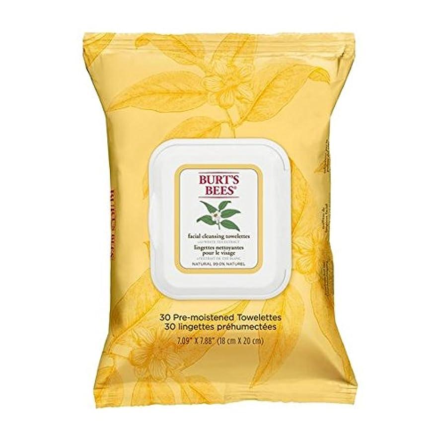 異常な玉雑多なホワイトティーエキスとバーツビー洗顔ペーパータオル x4 - Burt's Bees Facial Cleansing Towelettes with White Tea Extract (Pack of 4) [並行輸入品]