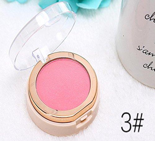 MZP Rong Gaoguang égayer les joues fardées usure brosse douce en soie rouge miroir , 3# pearl powder.