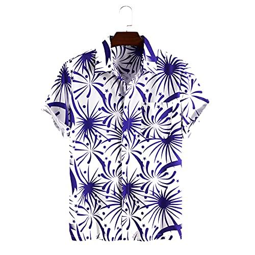SSBZYES Camisa para Hombre Verano De Manga Corta Camisa Estampada De Moda para Hombre Camiseta De Manga Corta...