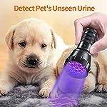MIU COLOR Black Light UV Flashlight, 21 LEDs 395nm UV Blacklight, Dogs Urine Detector, Handheld UV Flashlight for Dry Stains and Scorpion Hunting 12