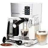 Máquina de café expreso, latte y capuchino, bomba de 19 barras, 10 piezas todo en uno cafetera espresso con vaporizador de leche (incluye: molinillo de granos de café, 2 tazas de capuchino y 2...