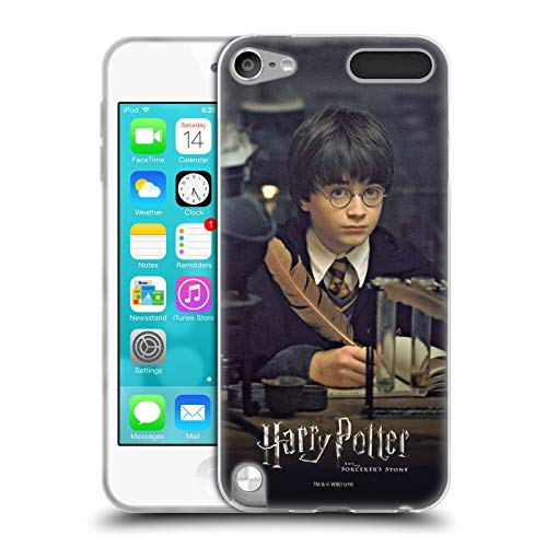 Head Case Designs Oficial Harry Potter Pluma Sorcerer's Stone II Carcasa de Gel de Silicona Compatible con Apple iPod Touch 5G 5th Gen