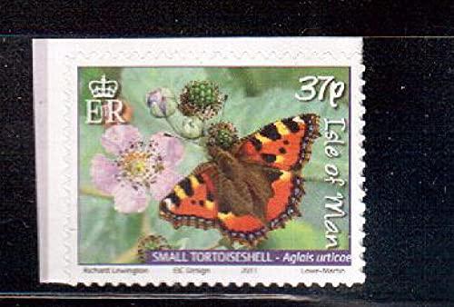 FGNDGEQN Colección de Sellos British Isle of Island 2011 Mariposa / Sello de Piedra 1 / Decocción de Papel Lateral es un Poco