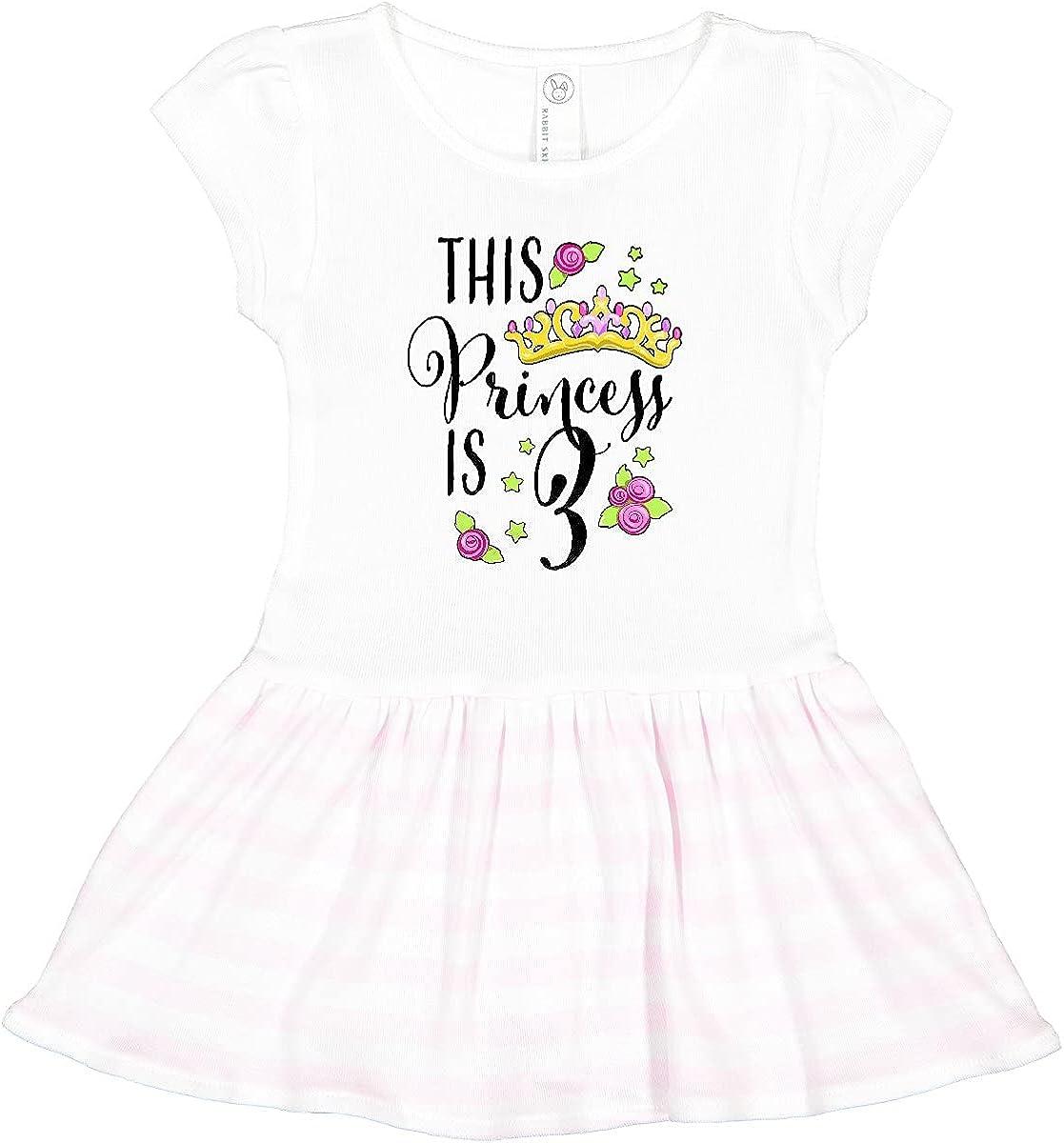 inktastic This Princess is Three- Birthday Toddler Third Popular brand New product type Dress