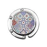 Vintage bohemio indio turco floral mandala patchwork lindo bolso titular de soporte para mesa diseños únicos, sección plegable de almacenamiento colgador para bolso de mano