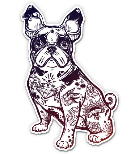 GT Graphics French Bulldog - 5' Vinyl Sticker - for Car Laptop I-Pad - Waterproof Decal