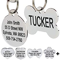 Personalized Stainless Steel Pet ID Tags