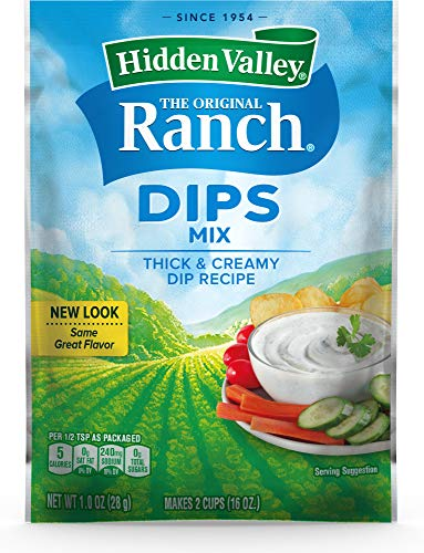 Hidden Valley Original Ranch Dips Mix, Gluten Free - 1 Packet (00403) (Package May Vary)