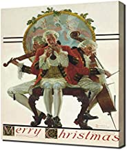 Pingoo Prints Norman Rockwell Merry Christmas Concert Trio - Canvas Art Print - Wall Art - Canvas Wrap