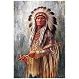 Diy Oil Painting, Painted By Children's Digital Kit -Native American Man,16''X20''