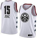 Los Hombres de Las Mujeres Camiseta de Baloncesto de la NBA Denver Nuggets # 15 Nikola Jokic Uniforme Vintage All-Star de New Tela Respirable Fresco del Ventilador de Baloncesto Unisex
