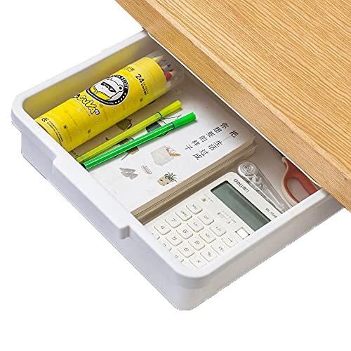 Cajones Escritorio Adhesivo Blanco Bandeja Almacenamiento Escritorio - 32x33.5x9cm - Office Organizer Drawer para El Almacenamiento De La Mesa De La Cocina De La Escuela Del Hogar De La Oficina