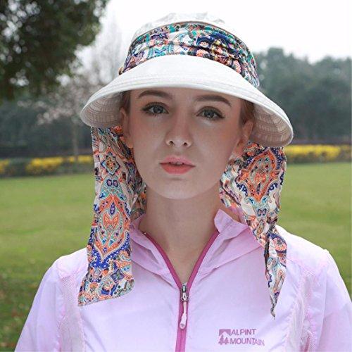 SAIBANGZI vakantie geschenken zomer helm outdoor anti-UV-vouwfiets hoed zonnehoed gezichtsmasker pet
