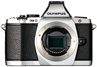 Olympus OM-D E-M5 16MP Live MOS Mirrorless Digital Camera with 3.0-Inch Tilting OLED Touchscreen [Body Only] Silver (Disco...