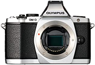Olympus OM-D E-M5 16MP Live MOS Mirrorless Digital Camera with 3.0-Inch Tilting OLED Touchscreen [Body Only] Silver (Discontinued by Manufacturer)