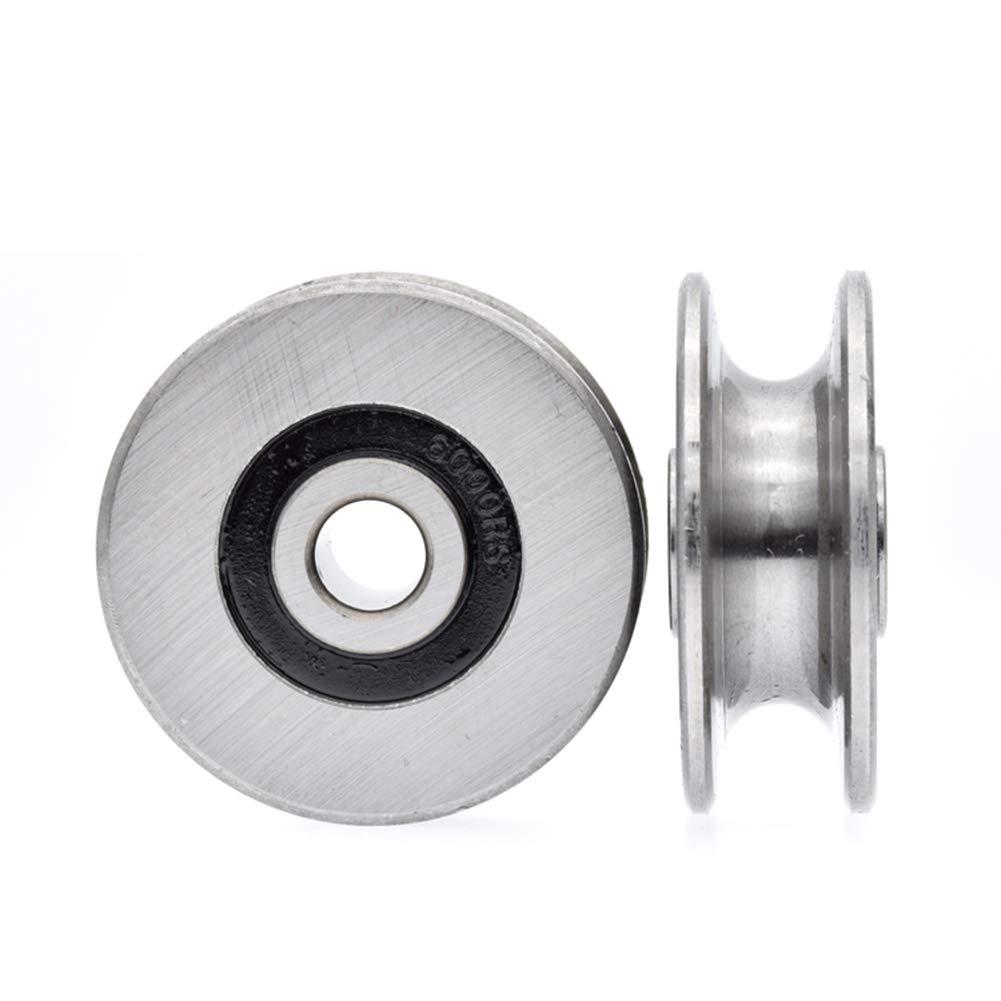 polea de metal y polea para gu/ía de elevaci/ón 250 kg Polea de acero inoxidable de 8 mm di/ámetro interior 40 mm Chiloskit