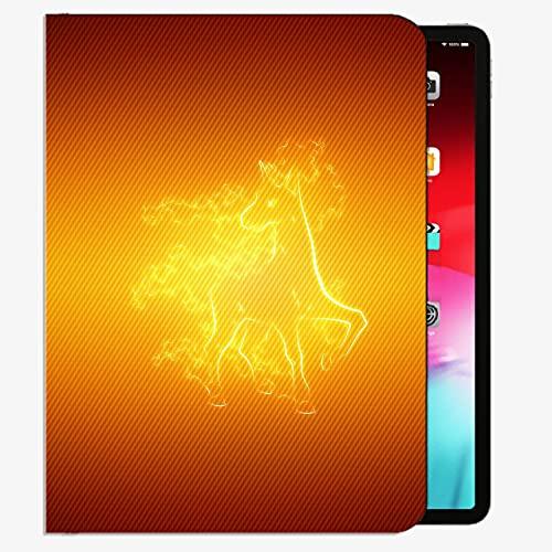 Caso en Forma de Nuevo iPad 8th Generation 10.2 '2020 / iPad 7th Gen 2019, Fuego Fondo Fondo Fondo Pokemon Raponash Case Slim Shell Cubierta para iPad 10.2 Pulgada