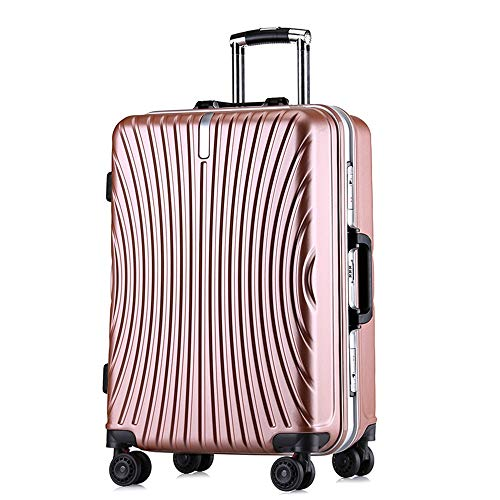YaGFeng Suitcase Single-piece Hard-shell Fine-tuning Travel Luggage Suitcase Light Portable With Column Suitcase Silent Rotator Multi-directional Aircraft Flight (Color : Black, Size : 24inches)