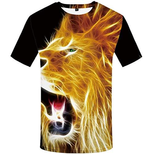 Tiger T Shirt Men Animal Tshirt Forest 3D Print T-Shirt Hip Hop Tee Slim Cool Mens Clothing Summer 3D t Shirt 20 S