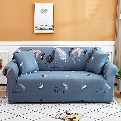 Elástica Funda de sofá 4 plazas, Funda de sofá de Esquina Fundas de sofá elásticas para Sala de Estar, Funda de sillón Chaise Longue Bench Decoratio B 235-300cm