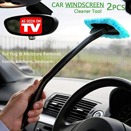 WINOMO 2pcs Car Windshield Cleaner Brush Auto Window Glass Cleaning Brush Tools with Long Handle Blue 5558970579
