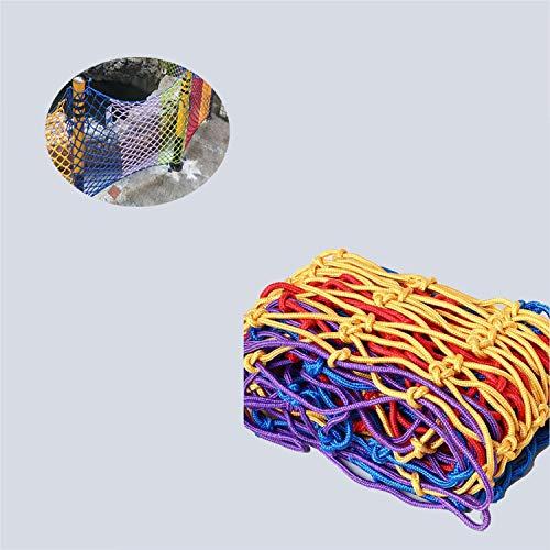 Beschermende netten Color nylon net, tuindecoratie Net Balkon Safety Nets Trappen Net Protection Net Portable Fence (Size : 1x4m(3x12ft))