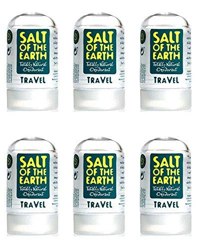 (6 PACK) - Zout van/Te Natuurlijke Deodorant - Reisgrootte | 50g | 6 PACK - SUPER SAVER - SAVE MONEY