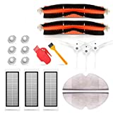 <span class='highlight'><span class='highlight'>SAFETYON</span></span> Accessories Kit for Xiaomi Robot Vacuum, spare parts S50 S55 with robot Roborock 2 2 *Main brush 3 * Side brush 3 * HEPA filter 2* Rag 6 * Filter cartridge 2 * Cleaning tool(18pcs)